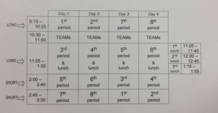 finals week schedule image